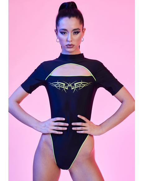 Rave Vixen Cut-Out Bodysuit