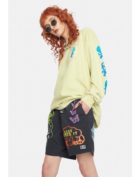 Easy Does It Nylon Shorts