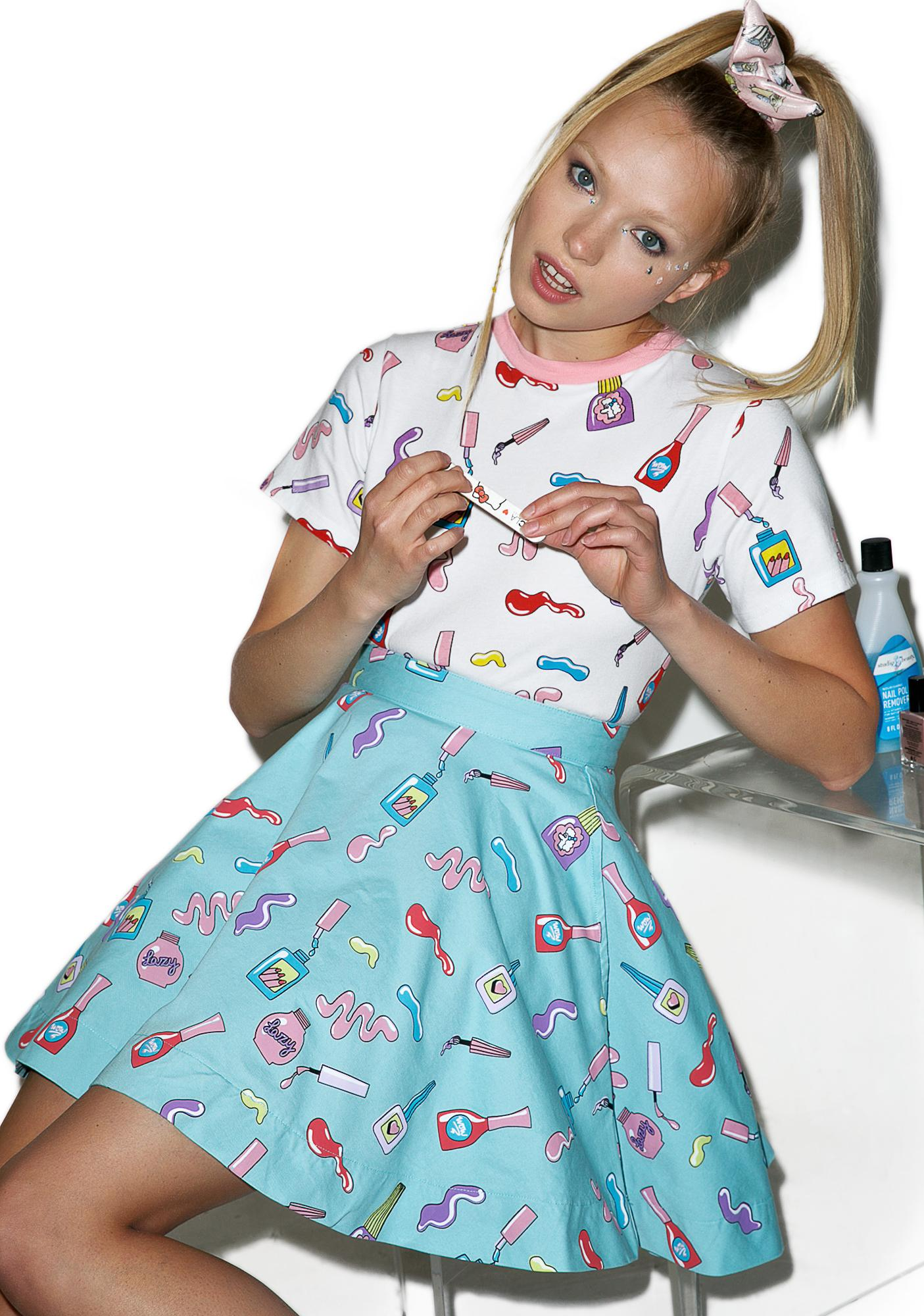 Lazy Oaf Nail Art Circle Skirt