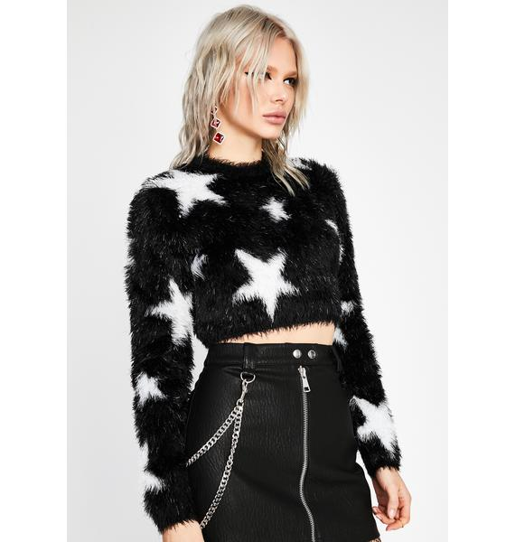 HOROSCOPEZ Astral Ambition Crop Sweater