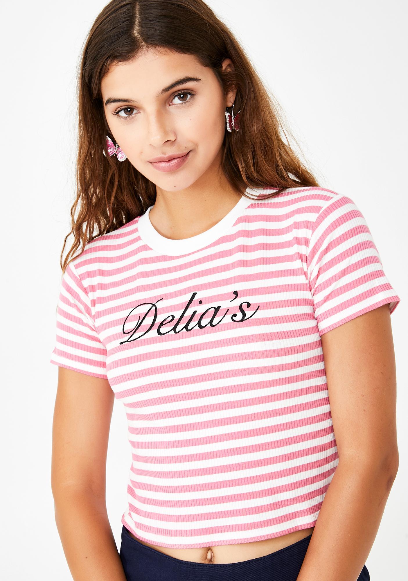 dELiA*s by Dolls Kill After School Sweetheart Striped Tee