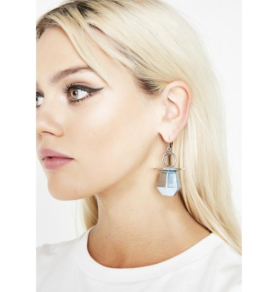 Kandi Pop Metallic Earrings