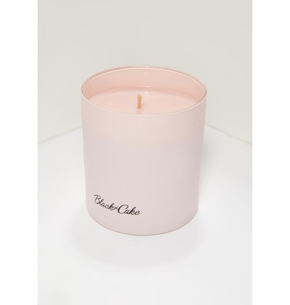 Black Cake Pink Aquarius Zodiac Massage Candle