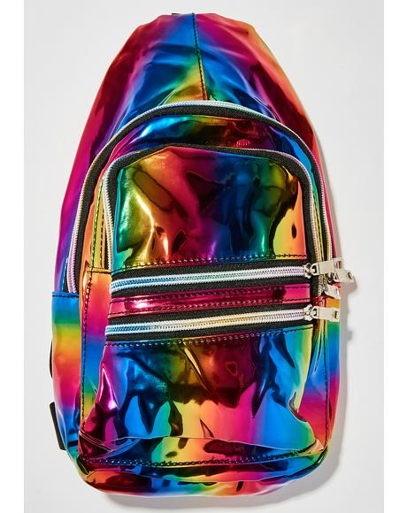 Prismatic Rainbow Sling Bag
