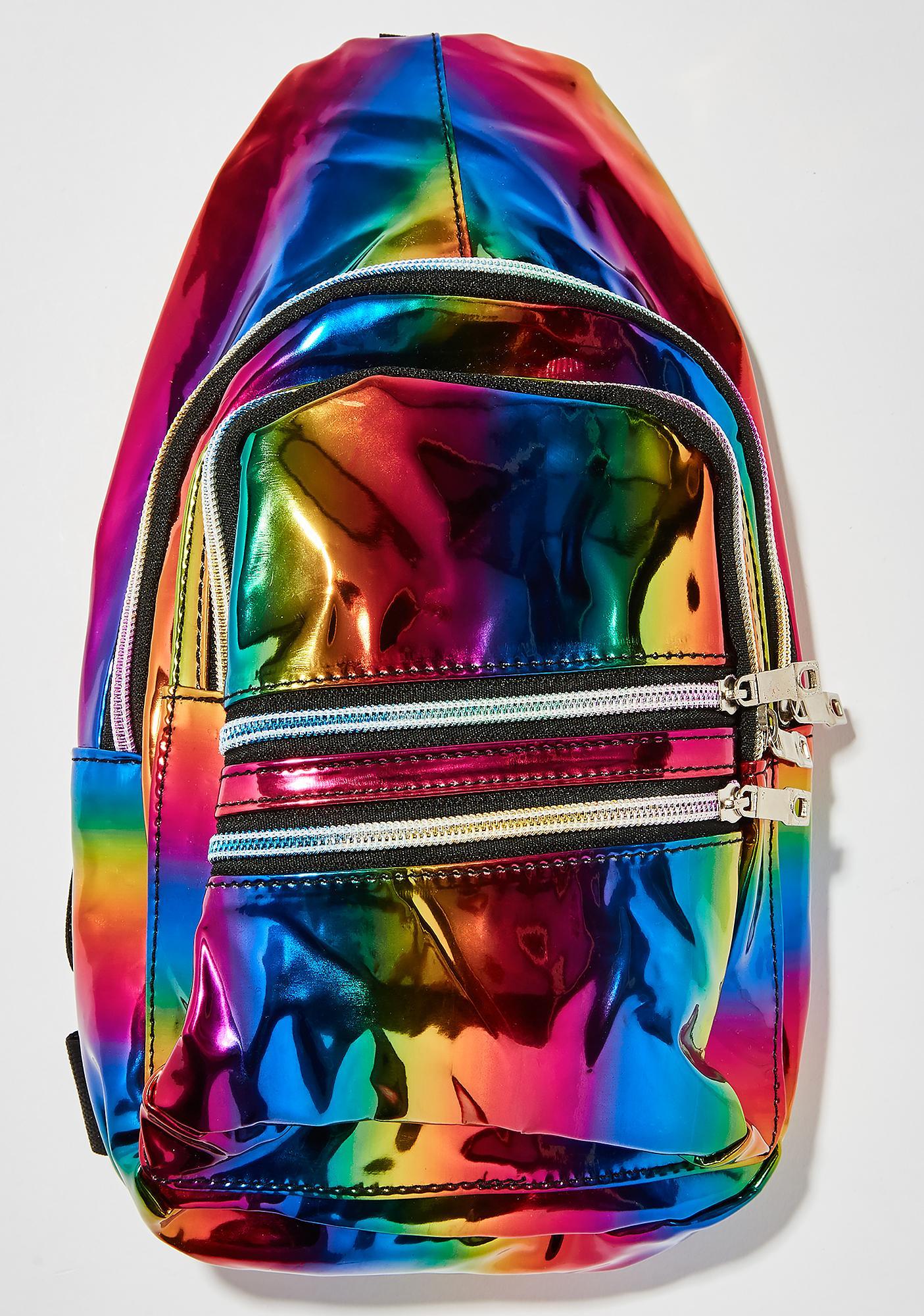 Prismatic Rainbow Sling Bag