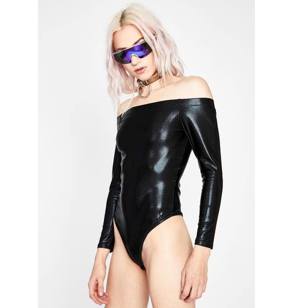 Quicksilver Metallic Bodysuit