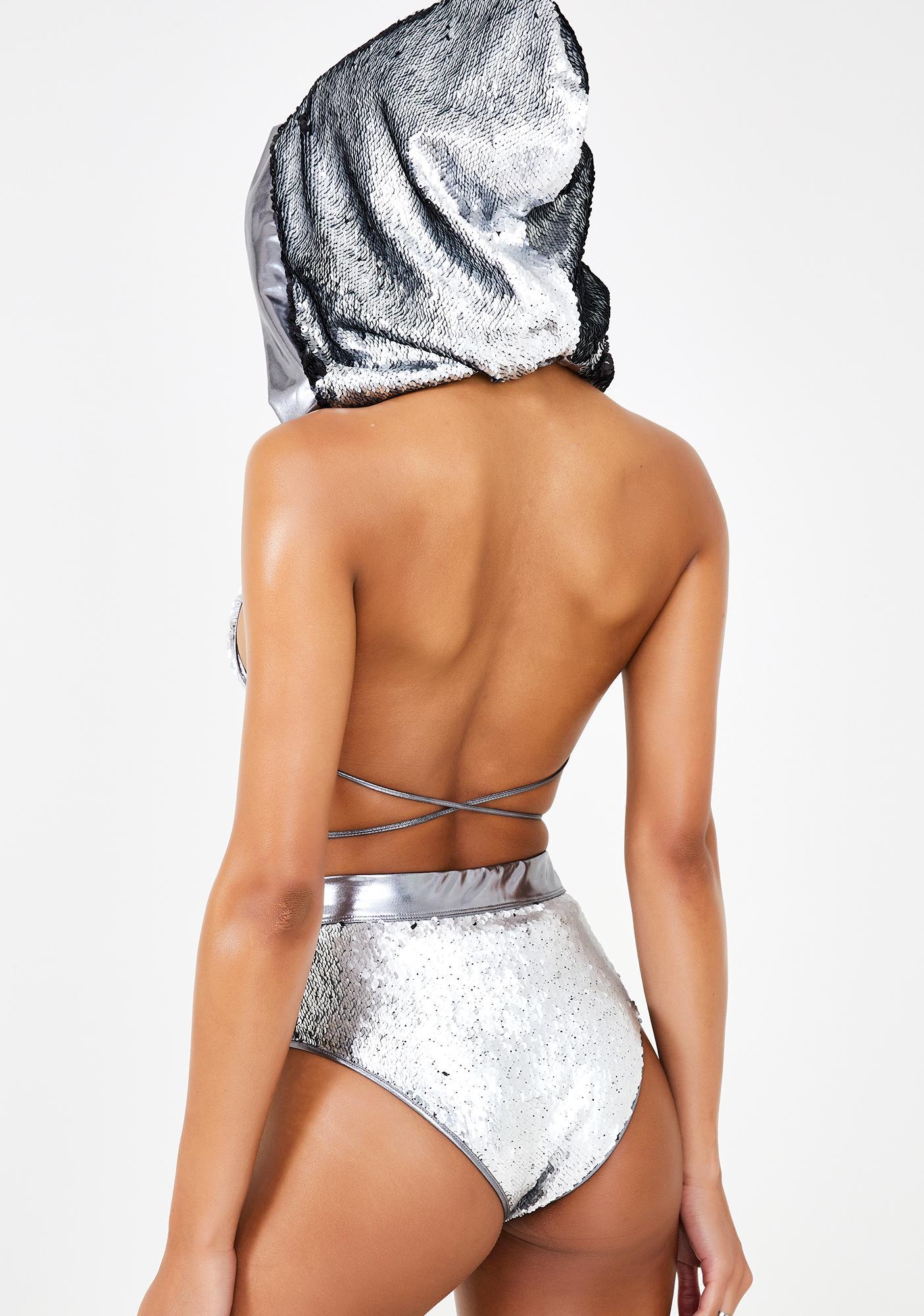 Club Exx Disco Sunshine Sequin Booty Shorts