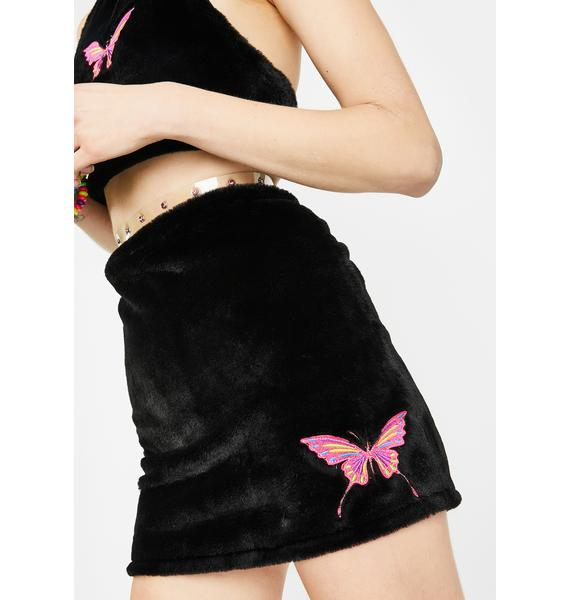 Club Exx Pixie Fuhreak Fur Skirt