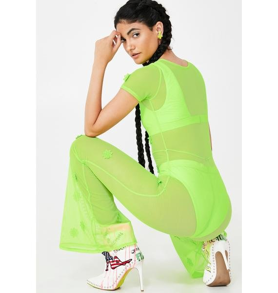 Willows Call Daisy Neon Mesh Jumpsuit