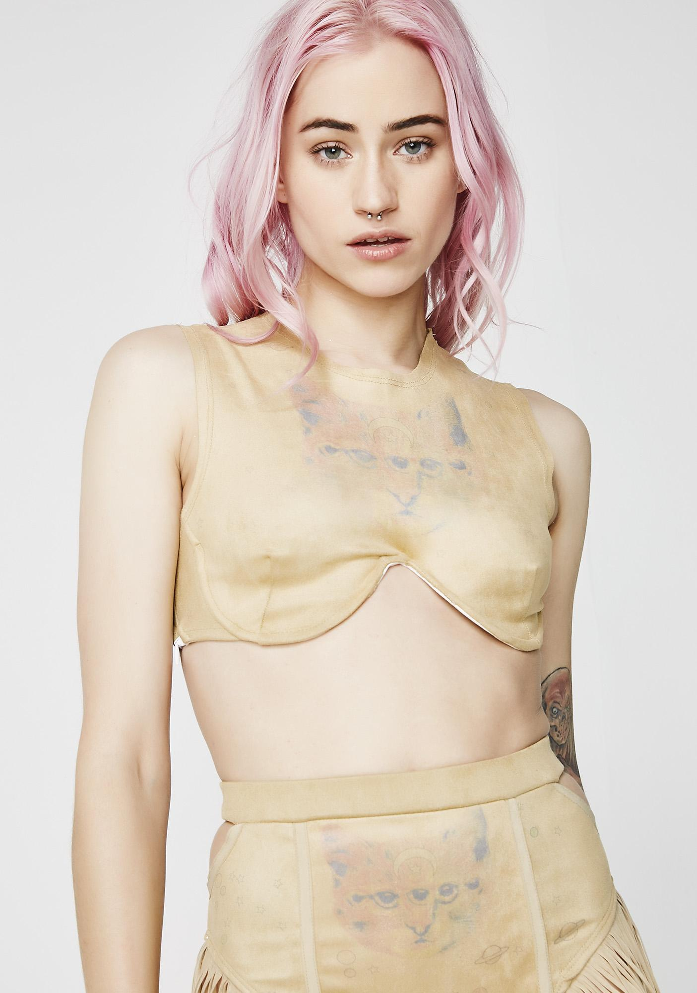 Save the Parade Acid Land Boyd Crop Bra