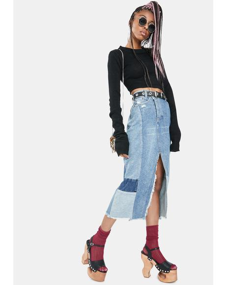 Tennyson Denim Midi Skirt