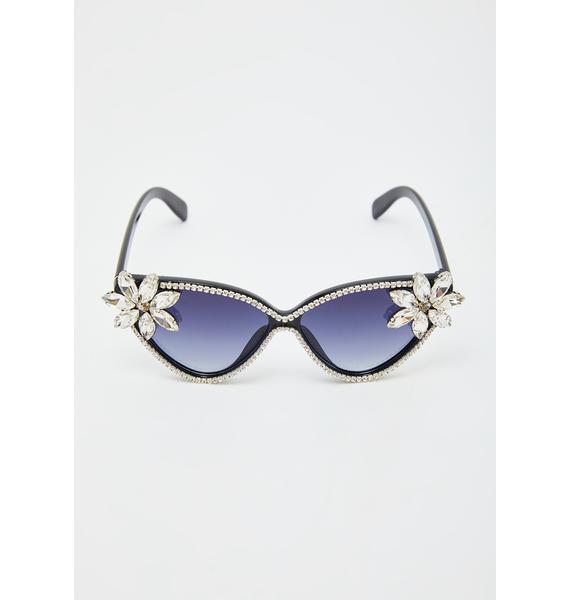 Sophisticated Glam Rhinestone Sunglasses