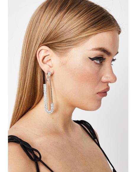 Bougie Baddie Safety Pin Earrings