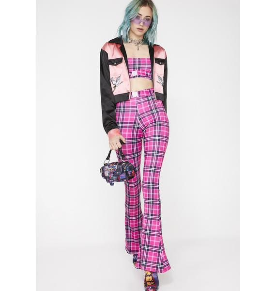 Babydol Clothing Pixie Tartan Crop Top