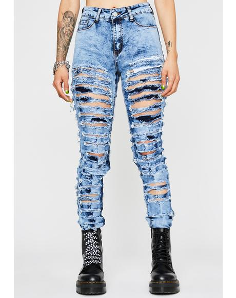 Riot Starter Distressed Jeans