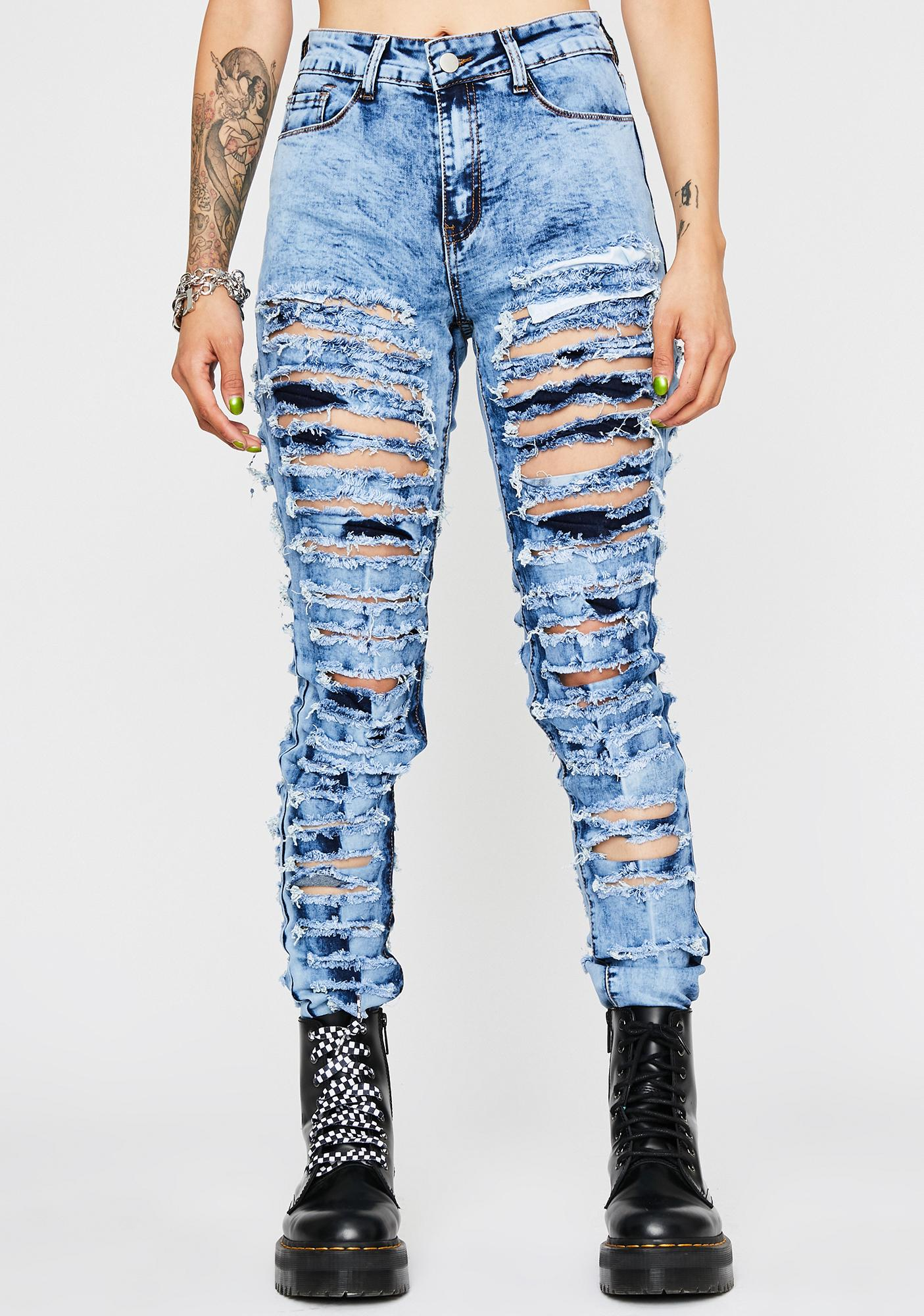big selection 2018 shoes famous brand Riot Starter Distressed Jeans
