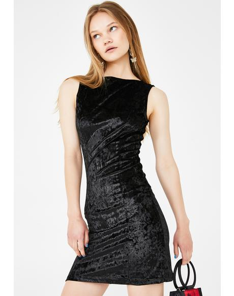 Just Too Posh Velvet Dress