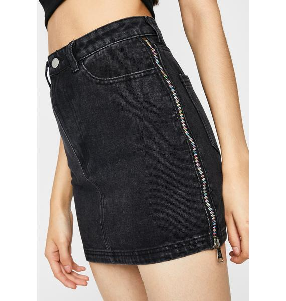 Bad Little Vibe Denim Skirt