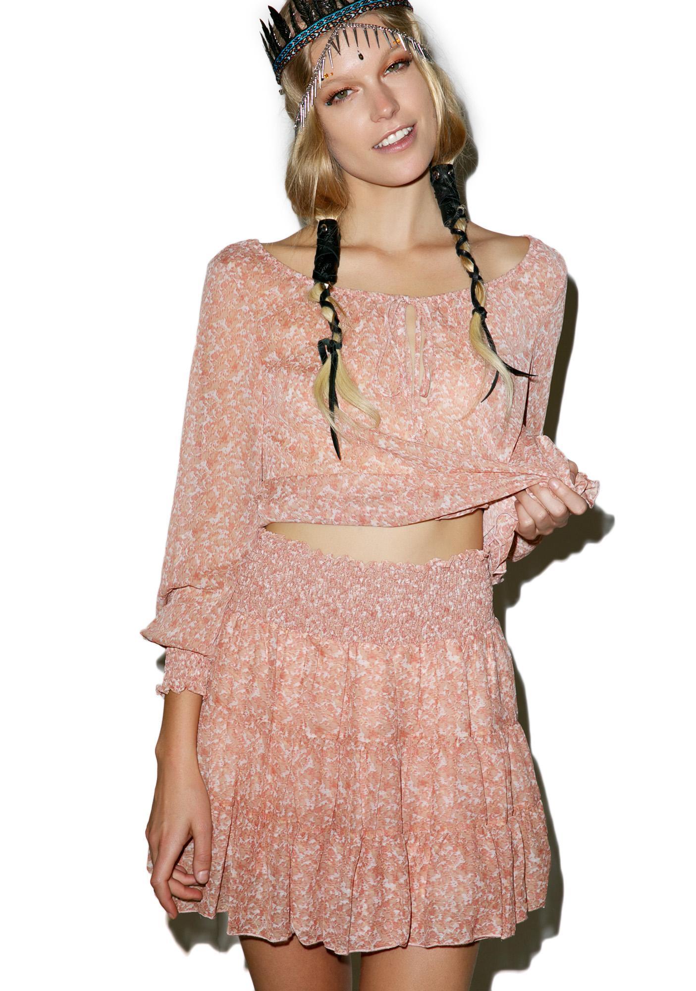 Rose Tea Flounce Skirt