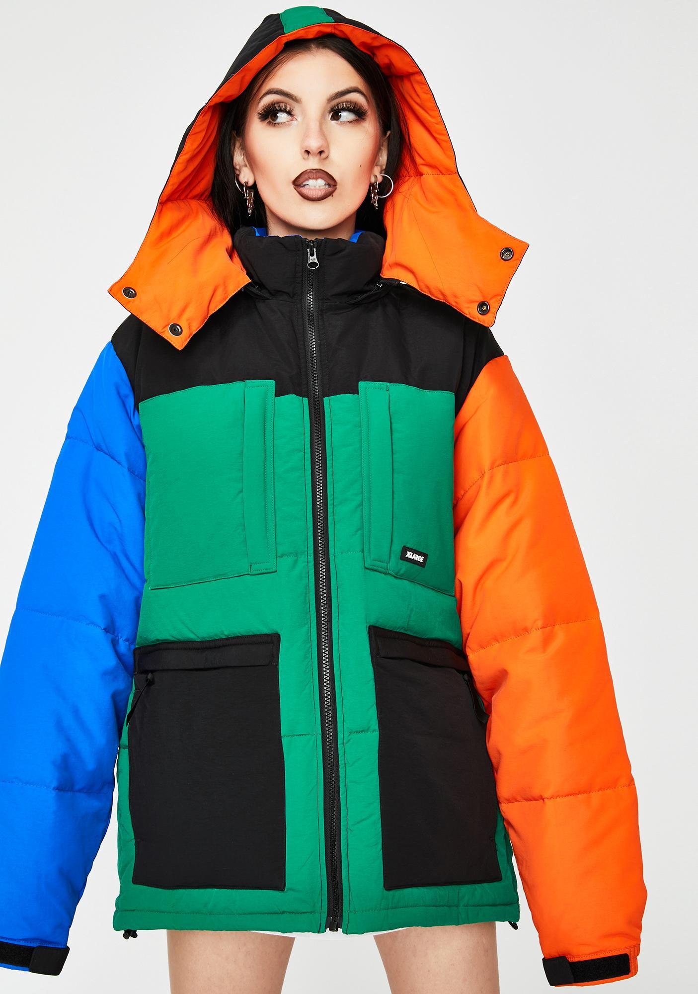 XLARGE Hooded Front Pocket Down Jacket