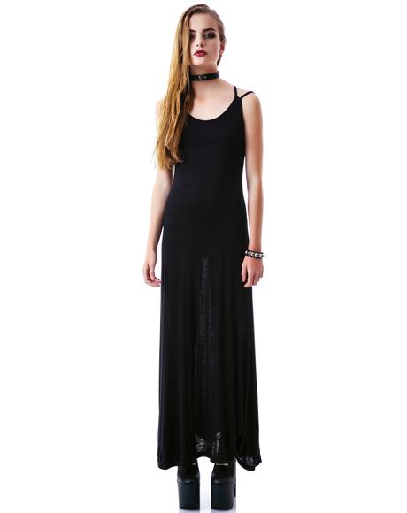 Joni Cross Back Maxi Dress