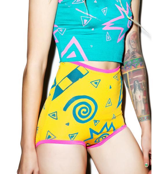 Mamadoux 80s Print Shorts