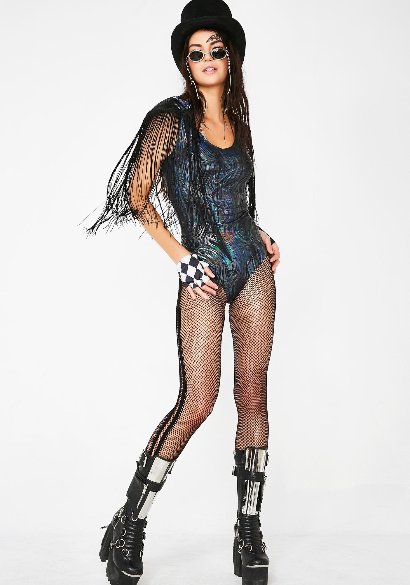 Shimmy Shimmy Yas Fringe Bodysuit