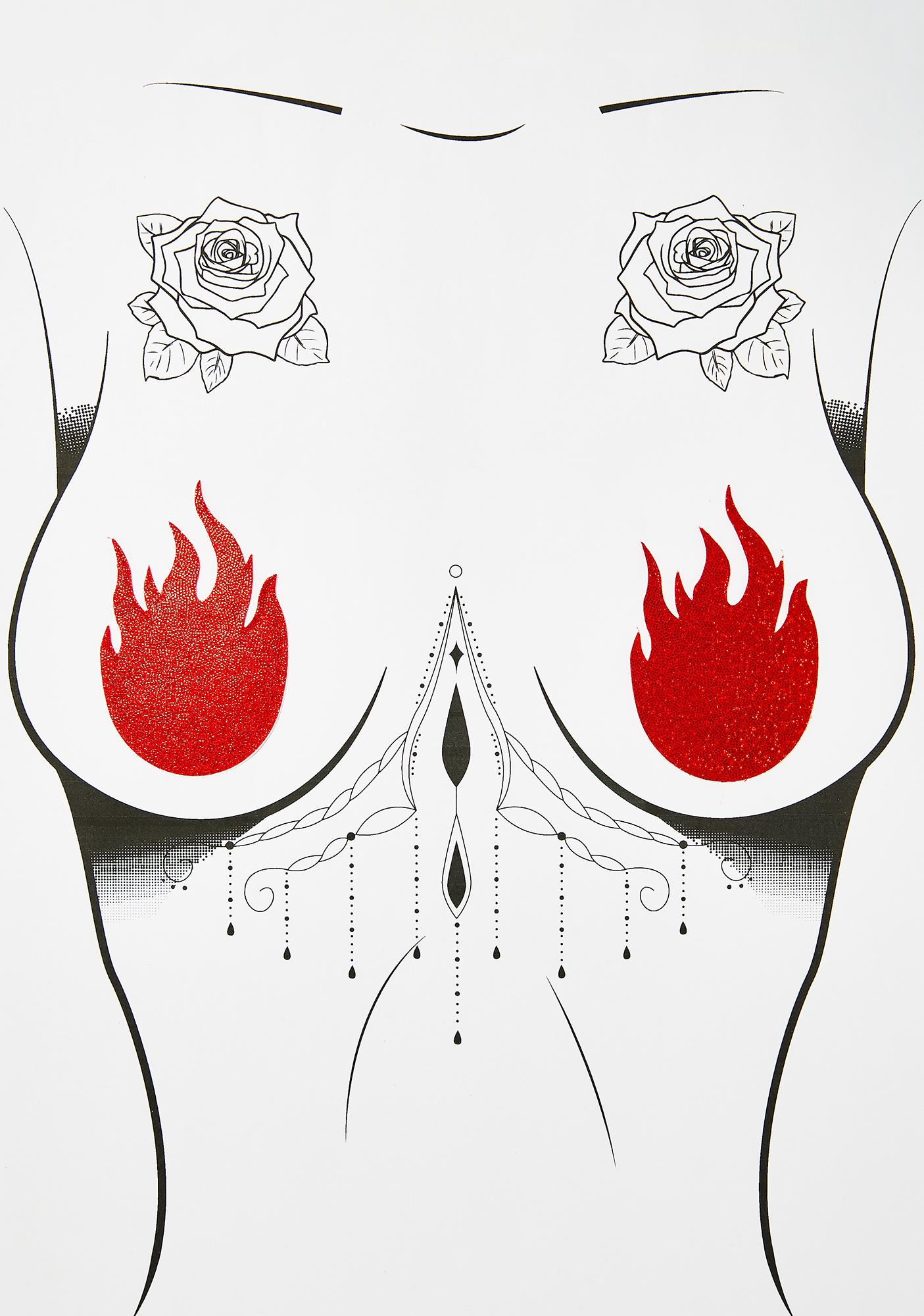 Pastease Red Flame Pasties