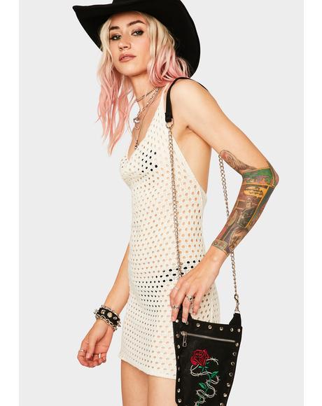 Ivory Rideout Road Crochet Dress