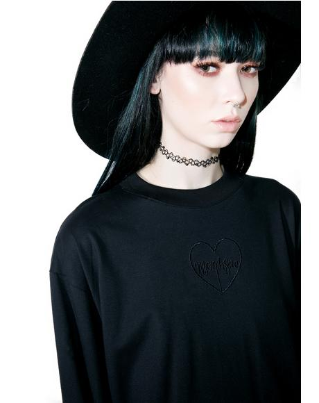 Black Twine Long Sleeve Top