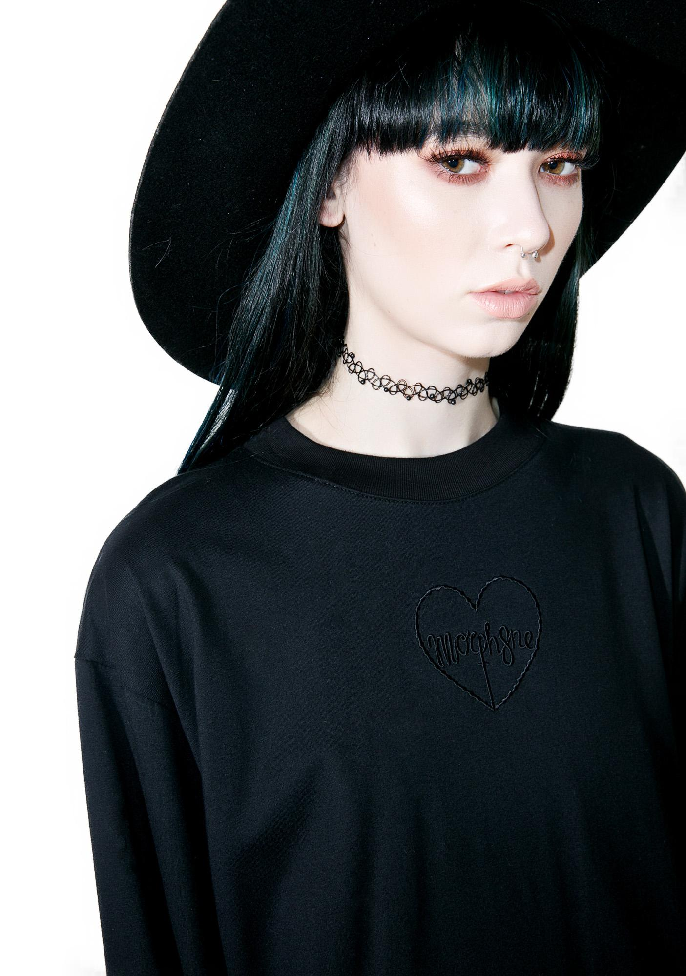 Morph8ne Black Twine Long Sleeve Top