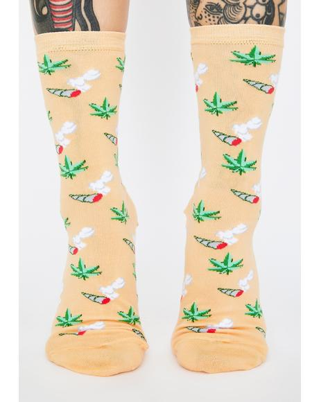 Weed Crew Socks