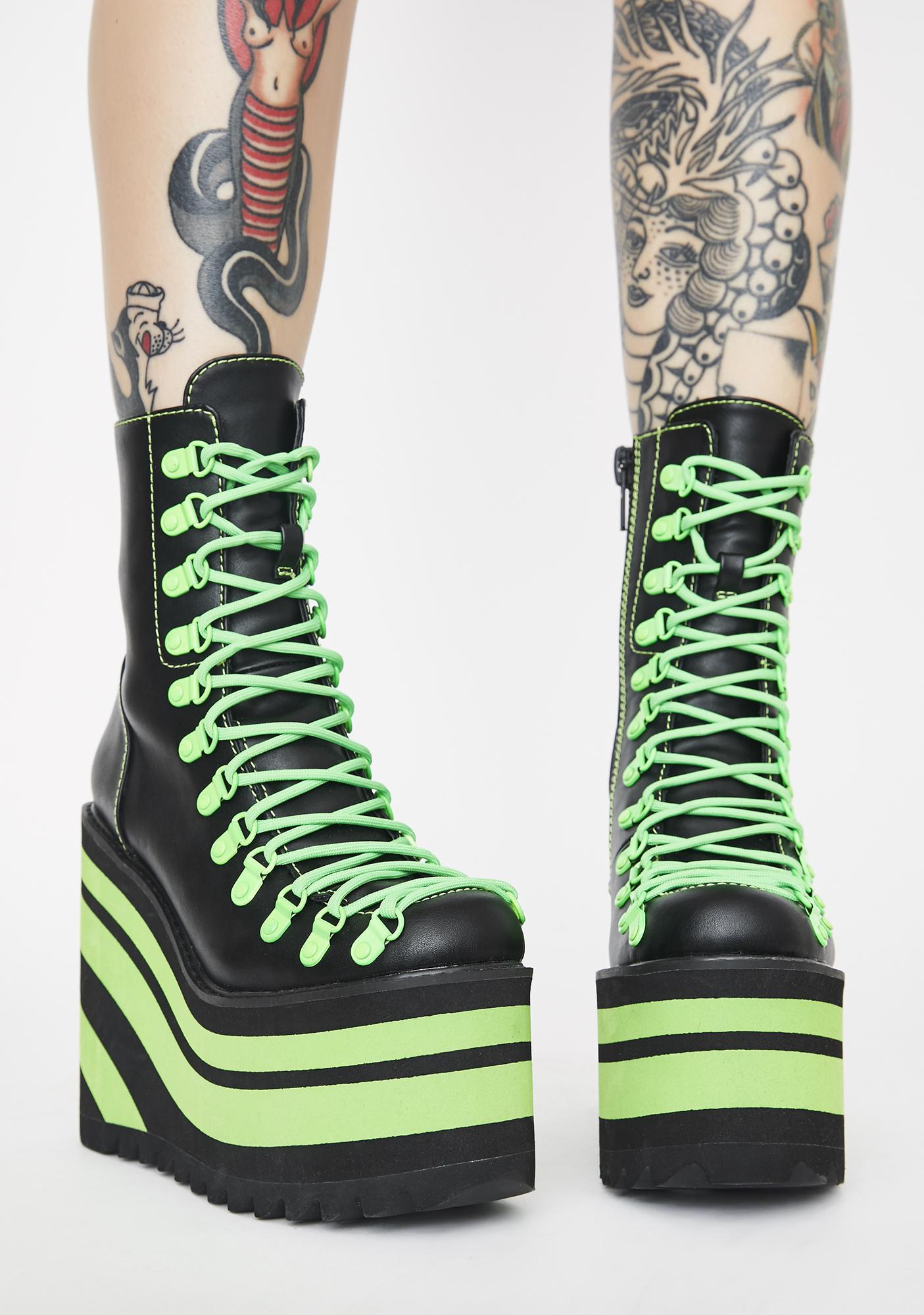 Club Exx Neon Jawbreaker Traitor Boots