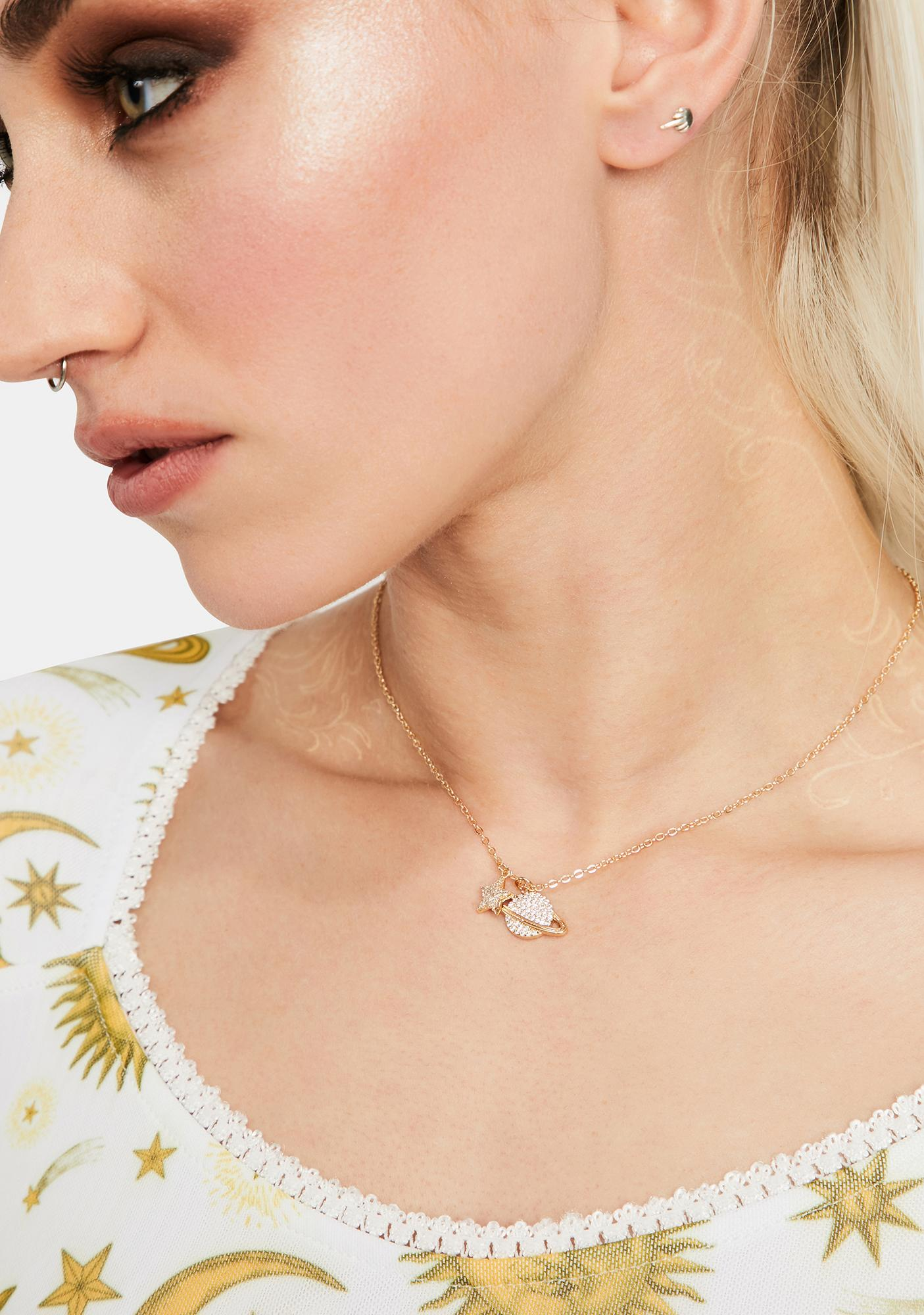 Rings In Saturn Necklace
