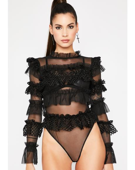 Dare To Doubt Me Sheer Bodysuit