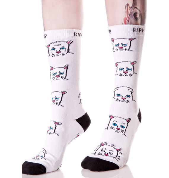 RIPNDIP Caturday Socks