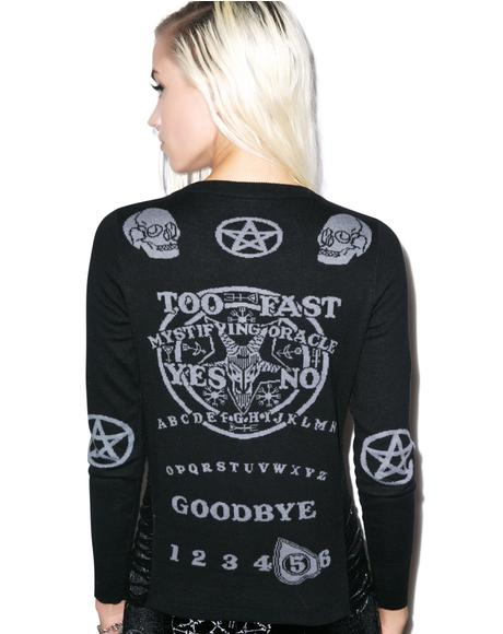 Ouija Side Slashed Cardigan
