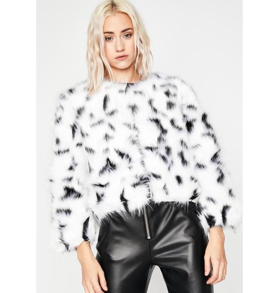 Doggin' On Ya Faux Fur Jacket