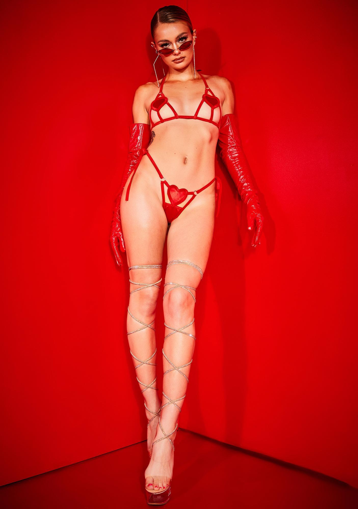 Poster Grl Scarlet Professional Heartbreaker Lingerie Set