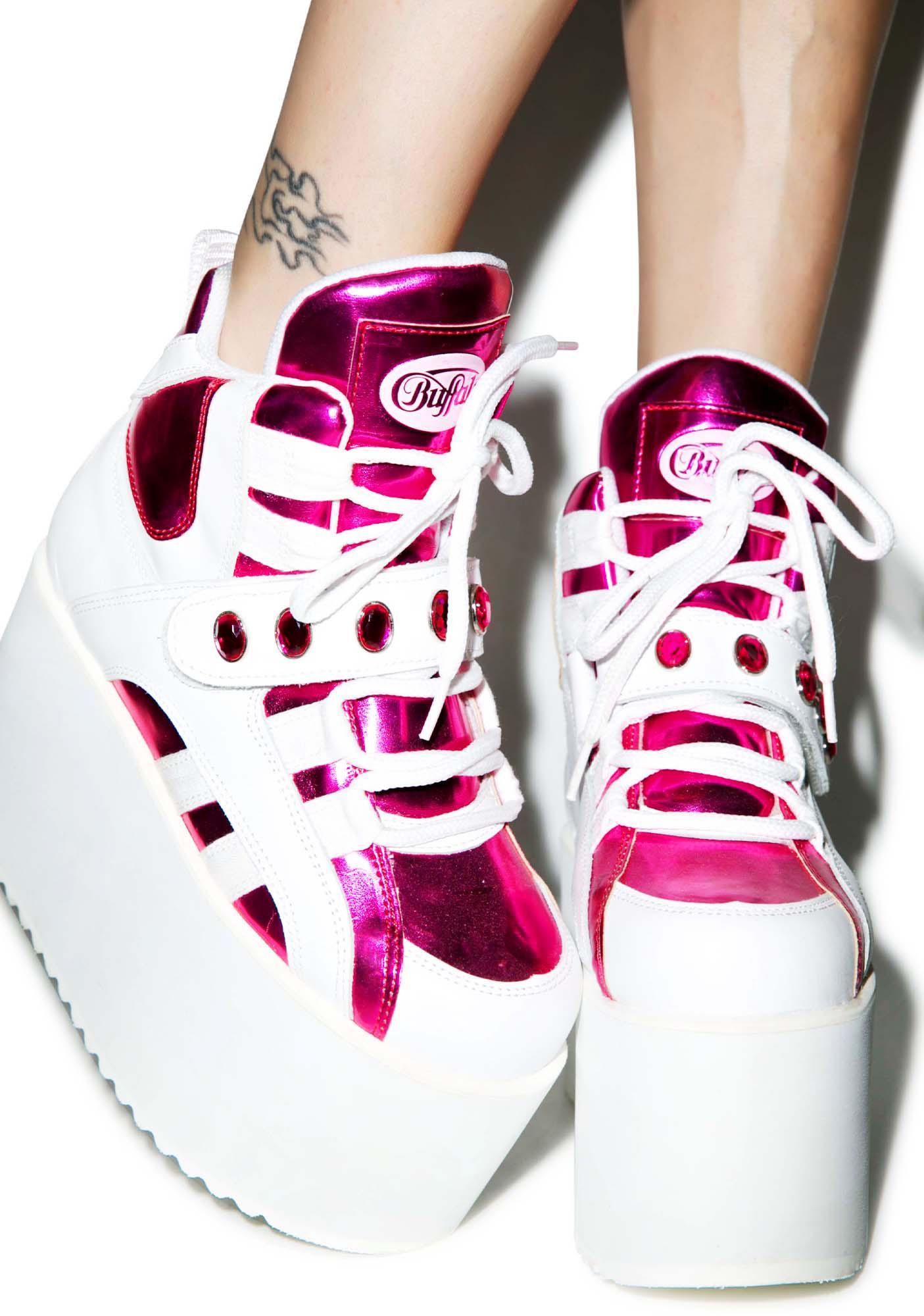 Buffalo London BB Spice Pink Platforms