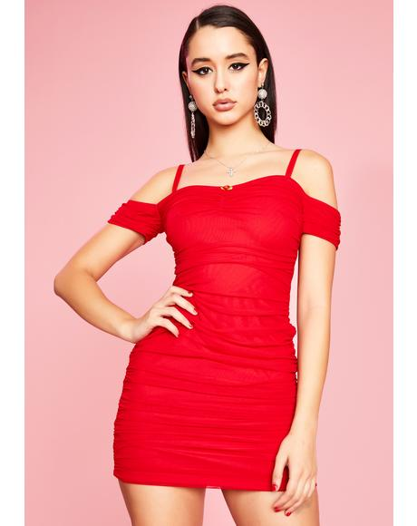 Red Light Special Ruched Dress