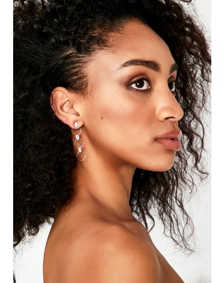 On Trend Rhinestone Earrings
