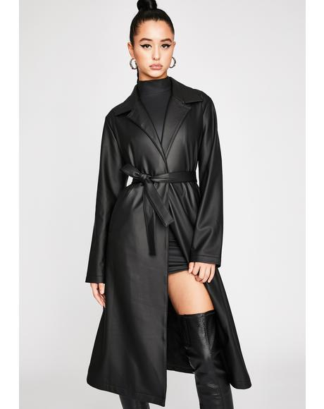 Throwin' Shade Belted Trench