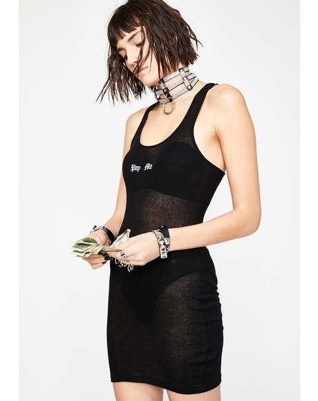 FU Pay Me Tank Dress