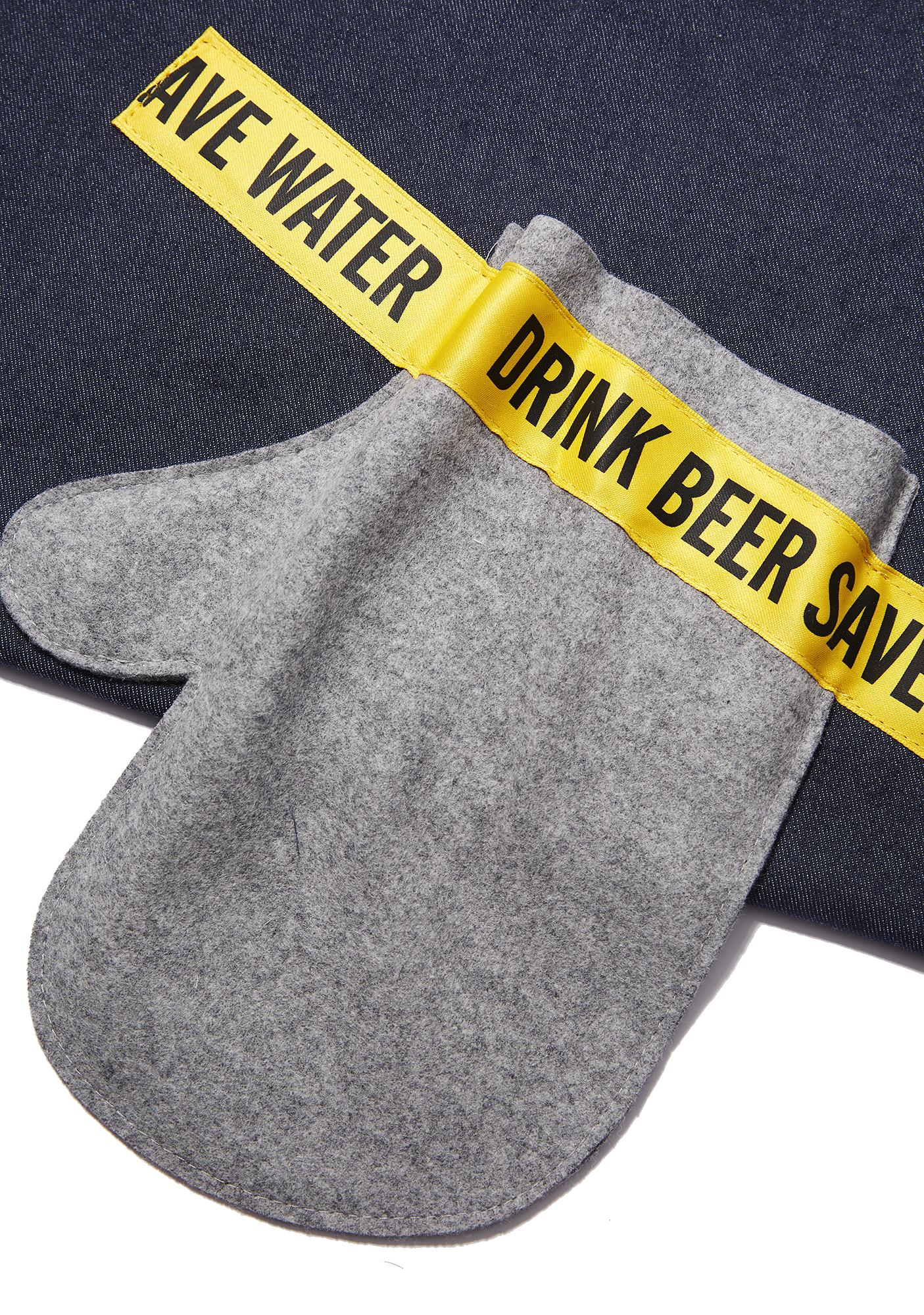 Drink Beer Save Water Mitten Clutch