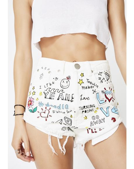 Sunshine Dreamer Denim Shorts
