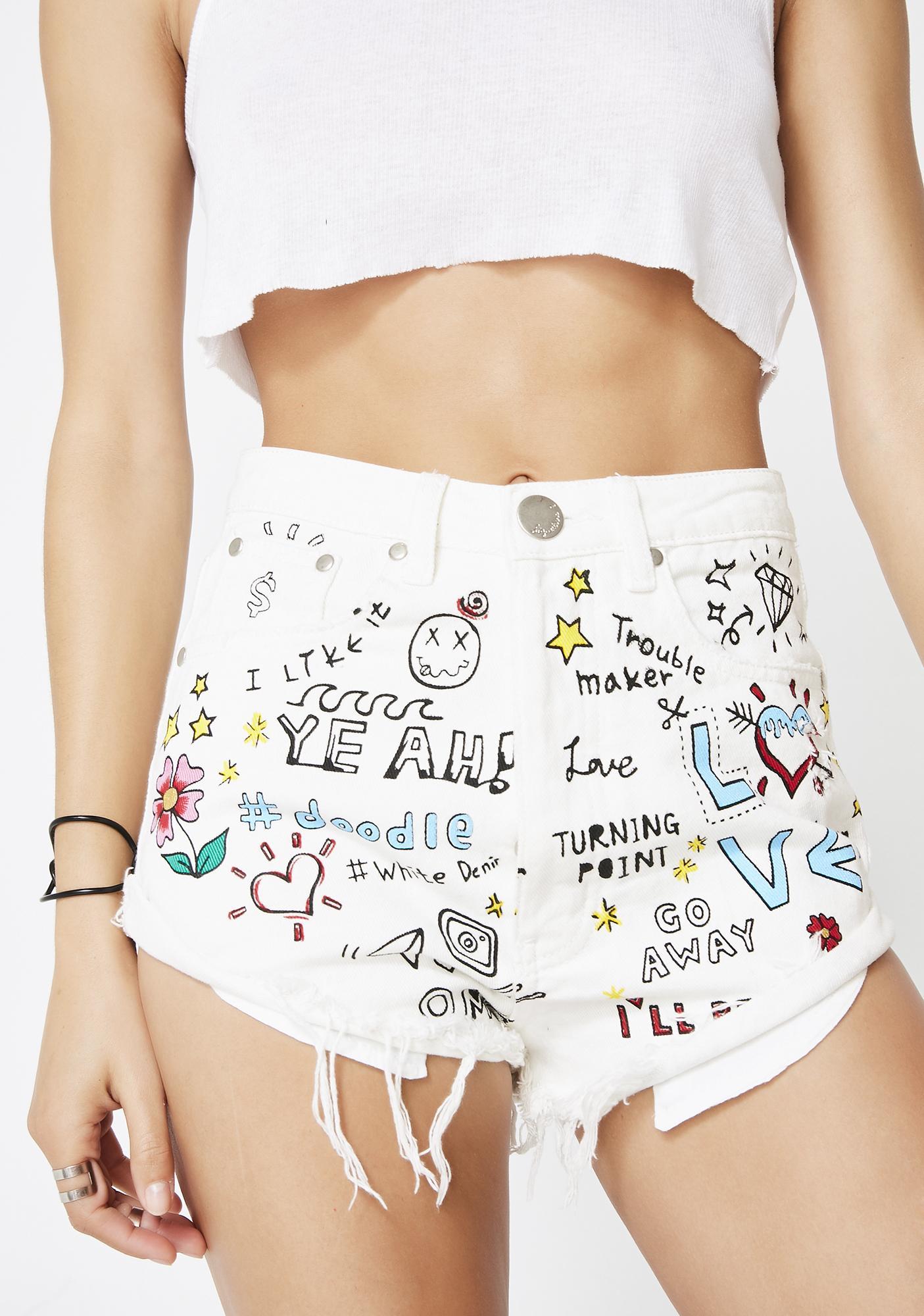 Sunshine Dreamer Denim Shorts