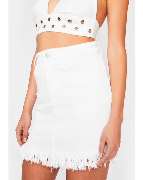 Heavenly Chained To The Rhythm Denim Skirt