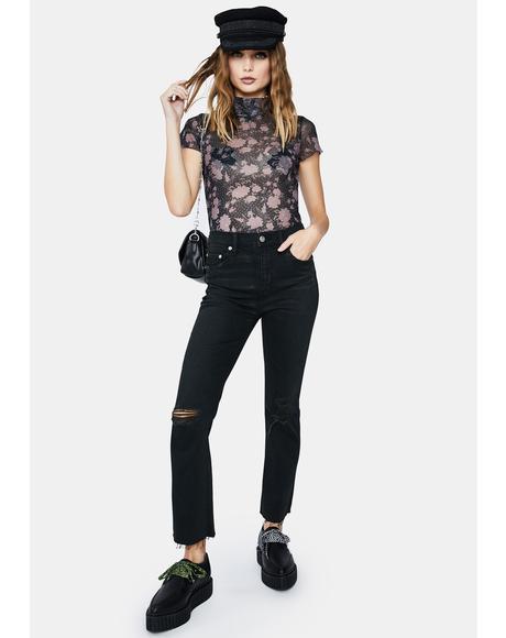 Black The Original High Rise Mom Jeans