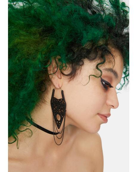 What Lies Beyond Chain Planchette Earrings